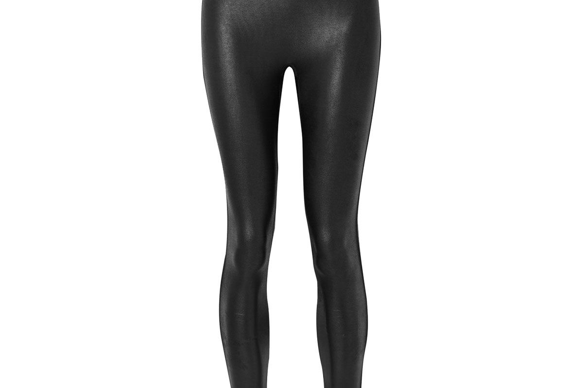 spanx faux stretch leather leggings
