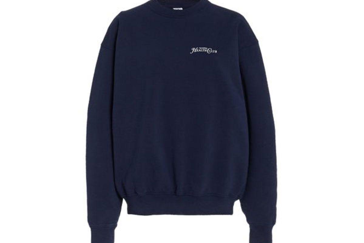 sporty and rich rizzoli printed cotton sweatshirt