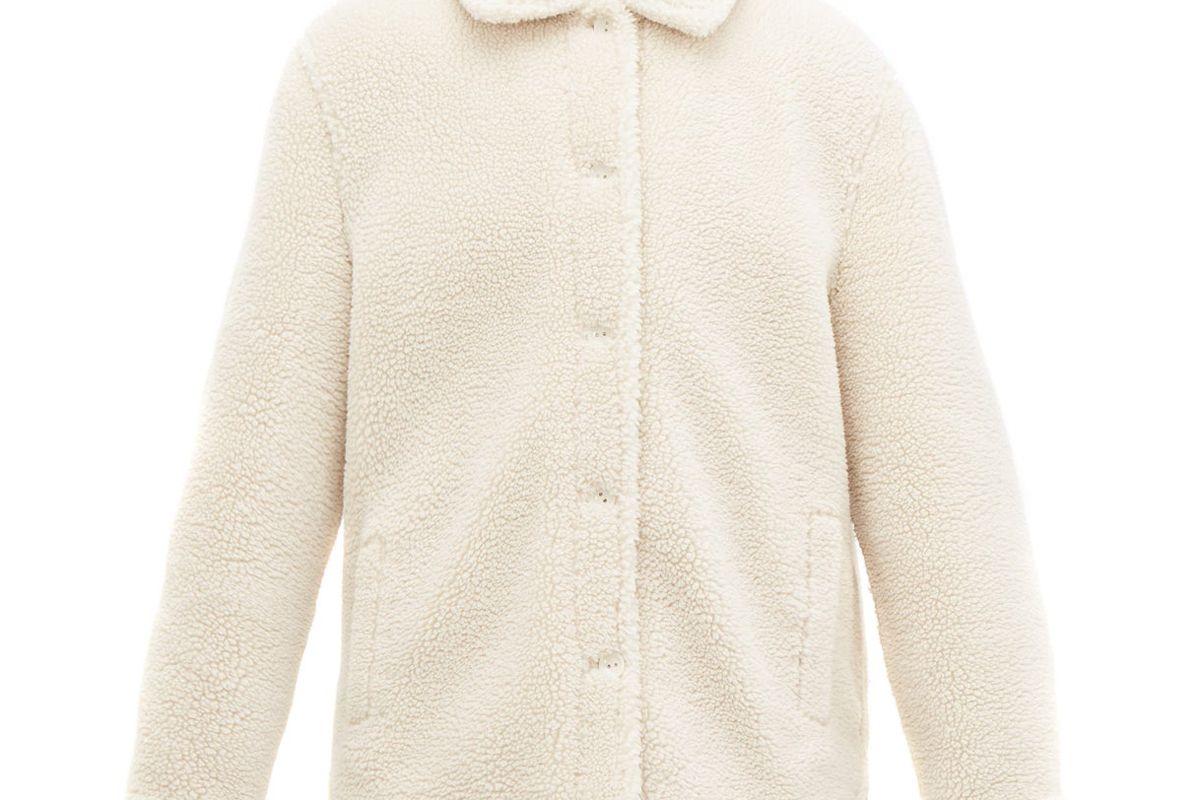 stand studio jeremy teddy fleece overshirt