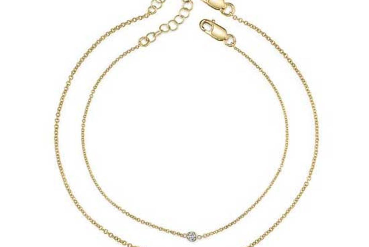 starling mama and mini diamond bracelet set