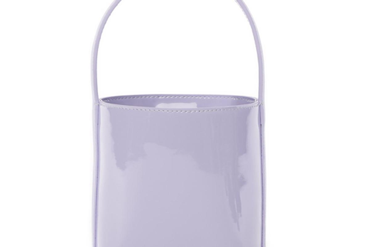 staud bissett bag lavender patent