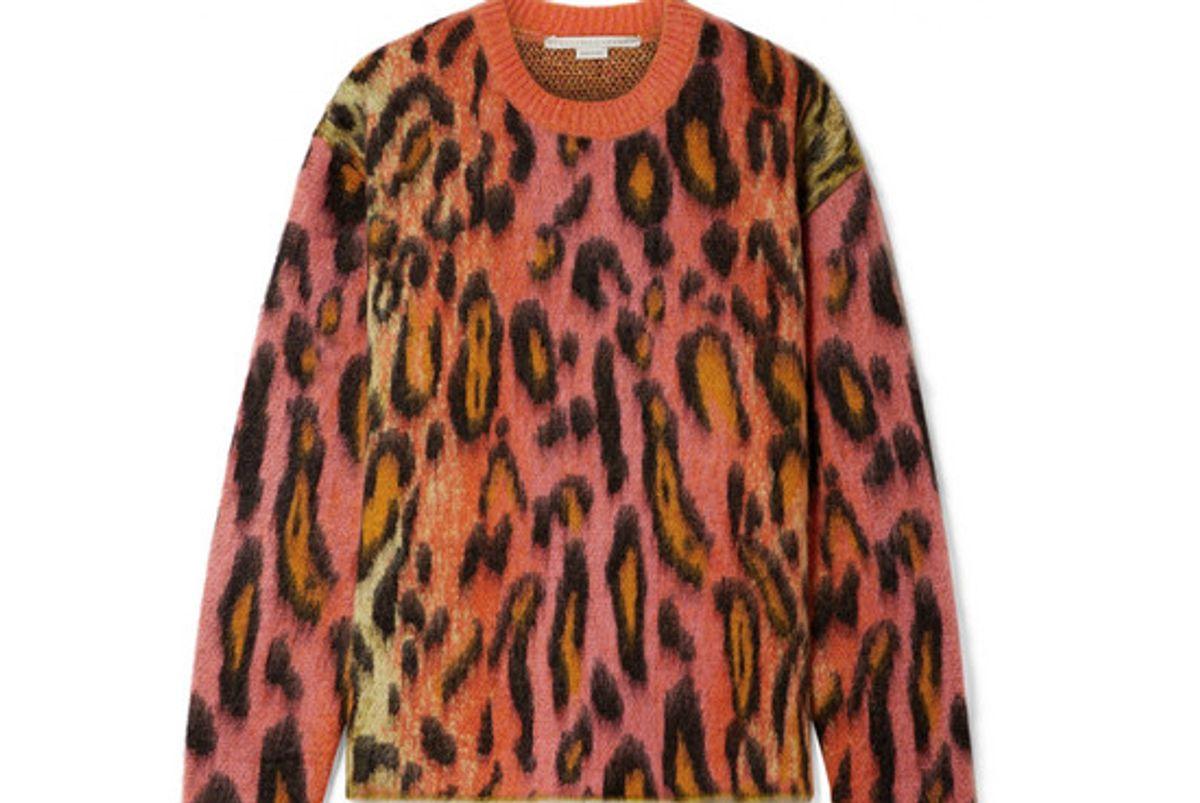 stella mcCartney brushed mohair blend jacquard sweater