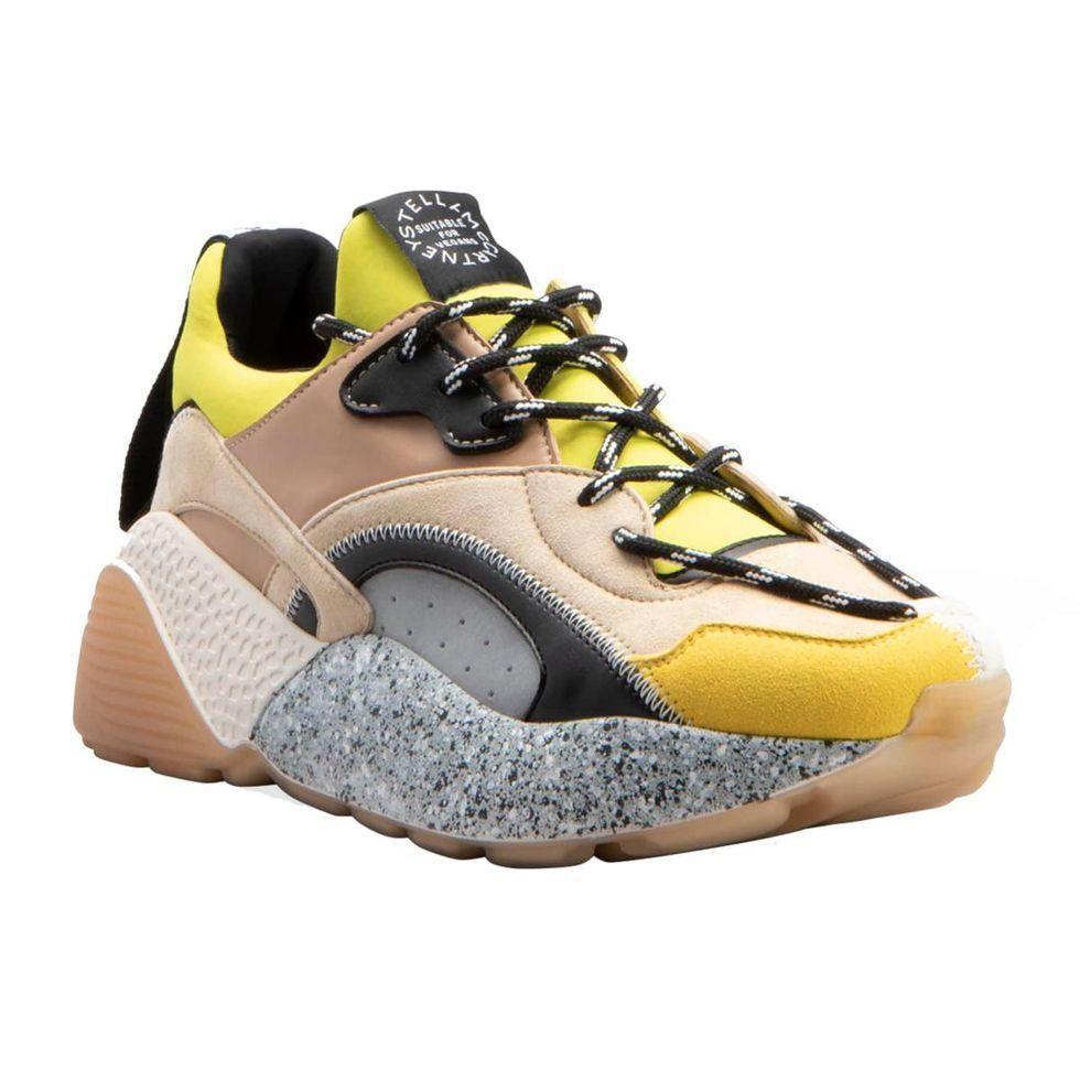 stella mccartney eclypse colorblock chunky fashion sneakers