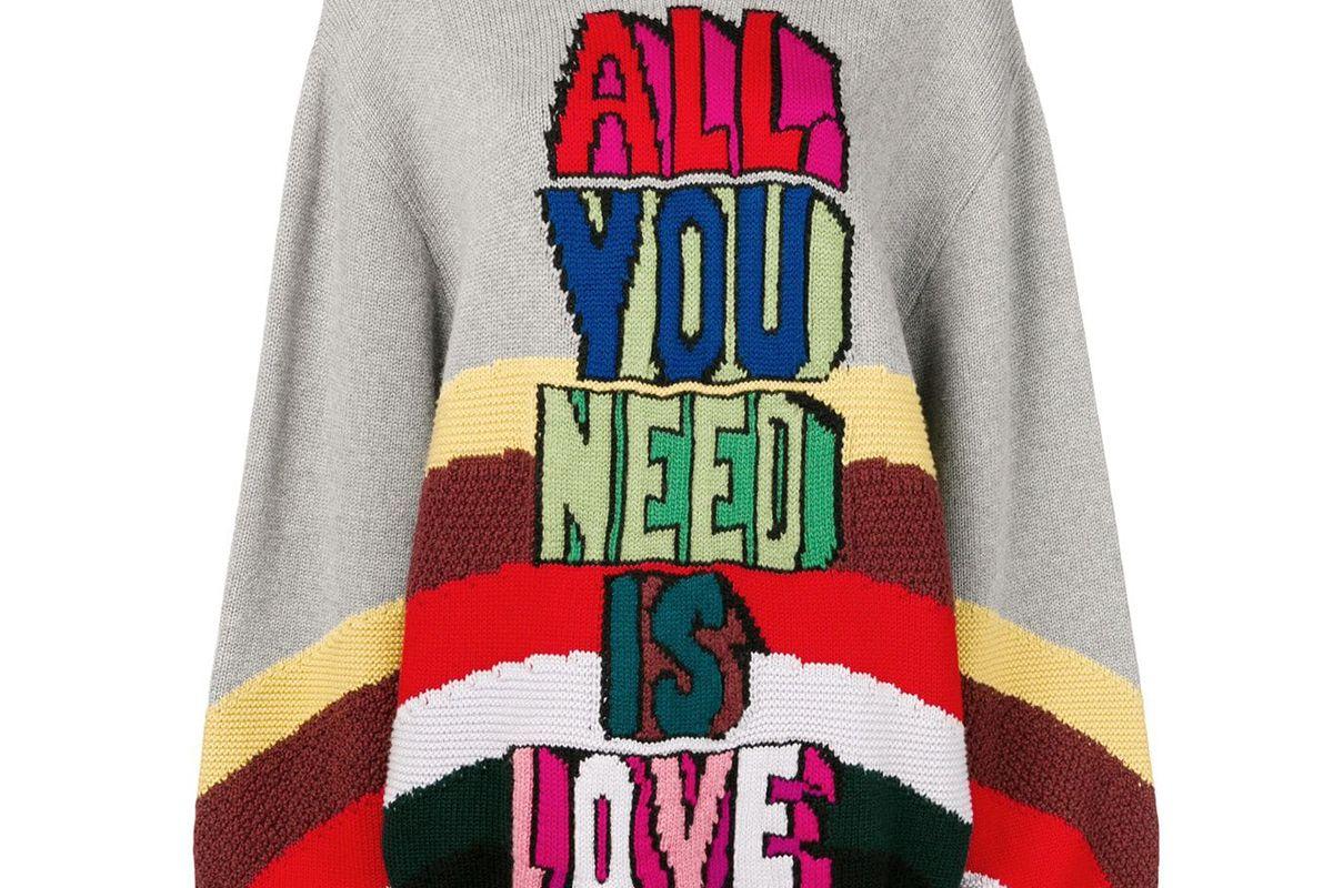 stella mccartney intarsia knit jumper