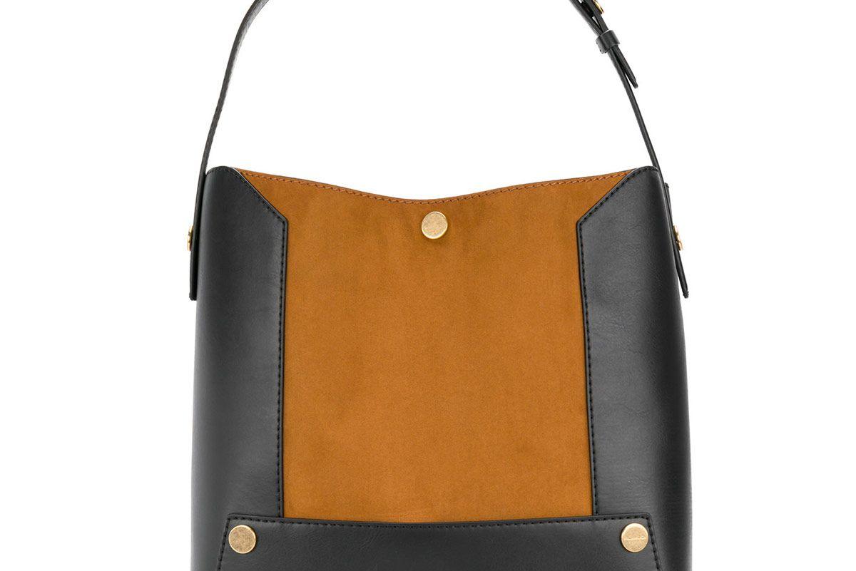 Two-Tone Stella Popper Bucket Bag