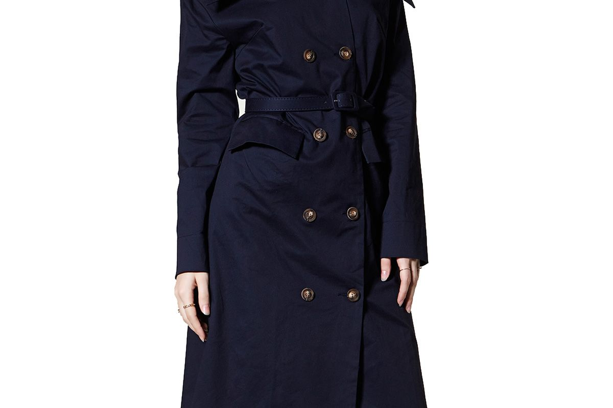 Alana Off-the-Shoulder Trench Dress