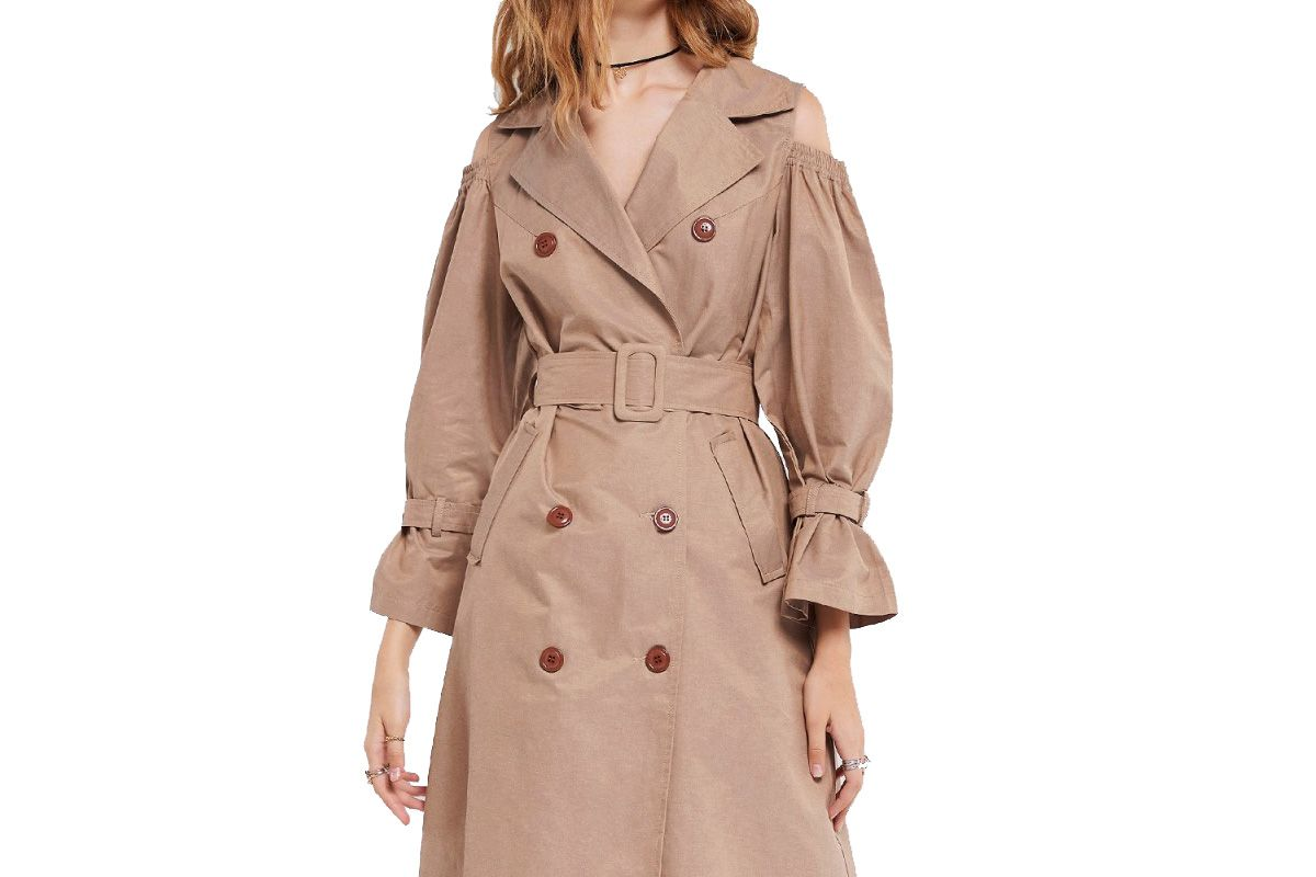 Eva Cold Shoulder Trench Coat