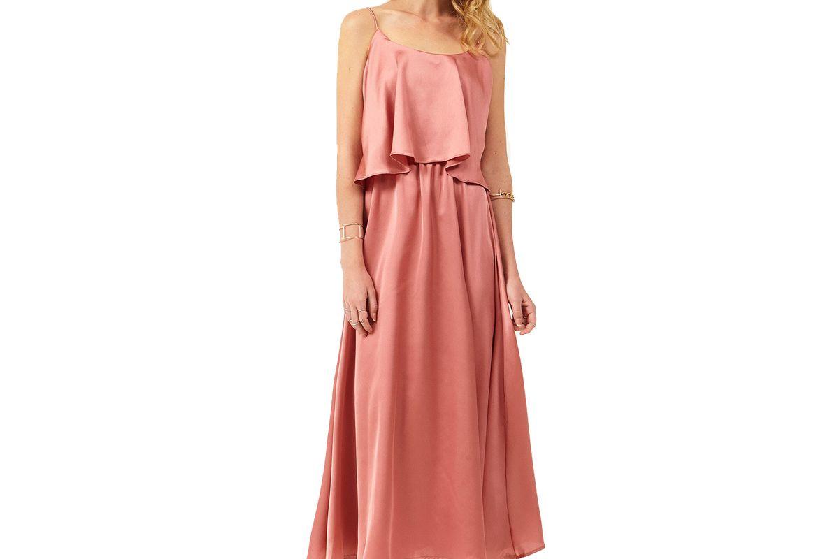 Viviana Back Open Satin Dress