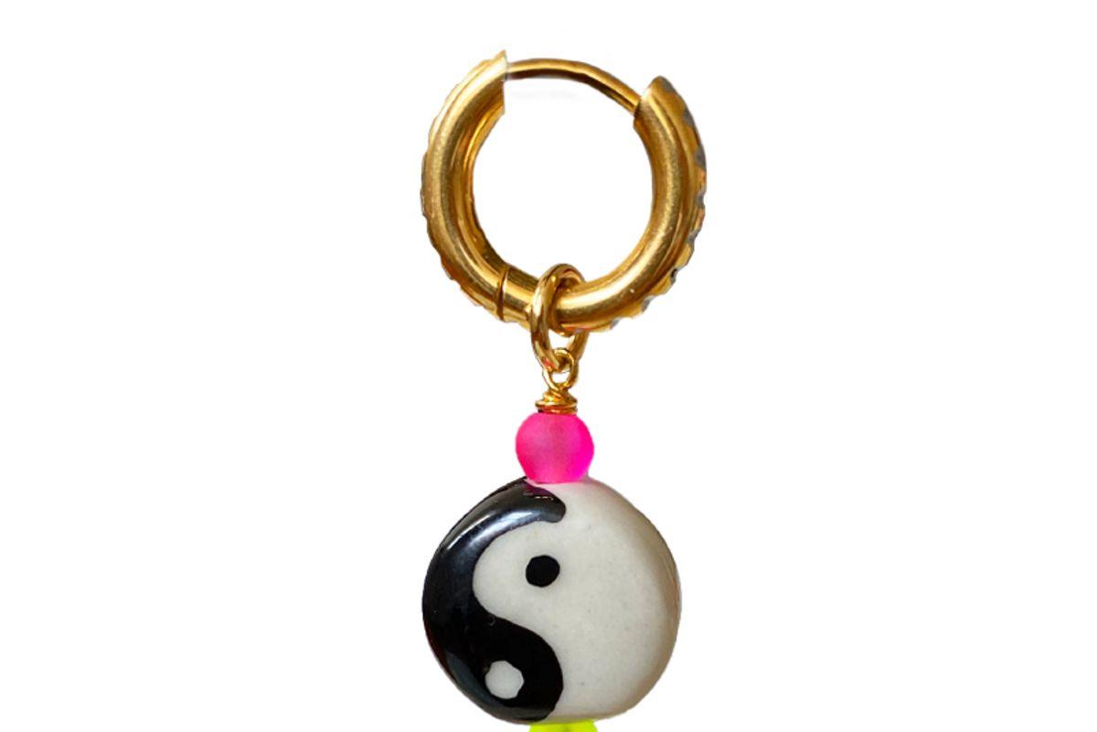 studs yin yang earring