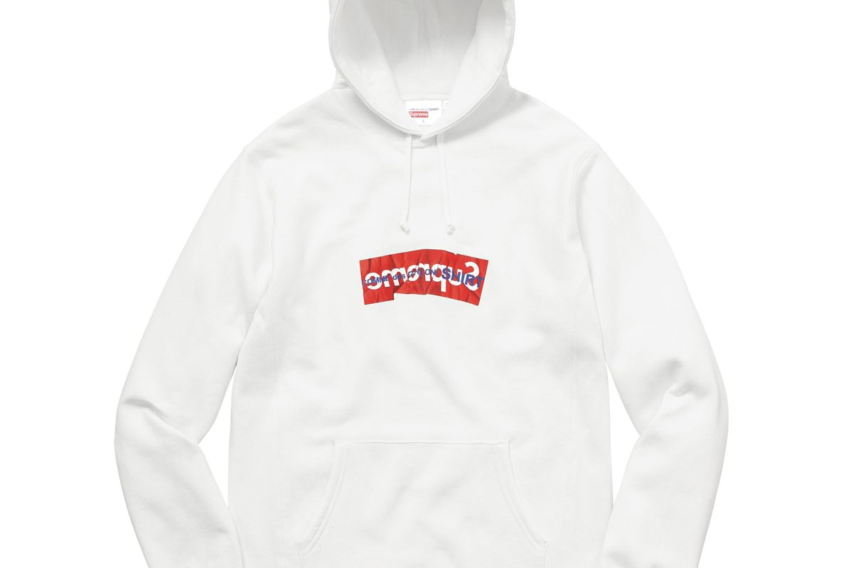 X Comme des Garçons Shirt Box Logo Hooded Sweatshirt