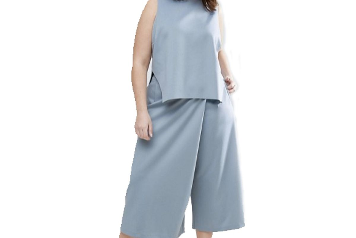 Curve Asymmetric Wrap Culotte