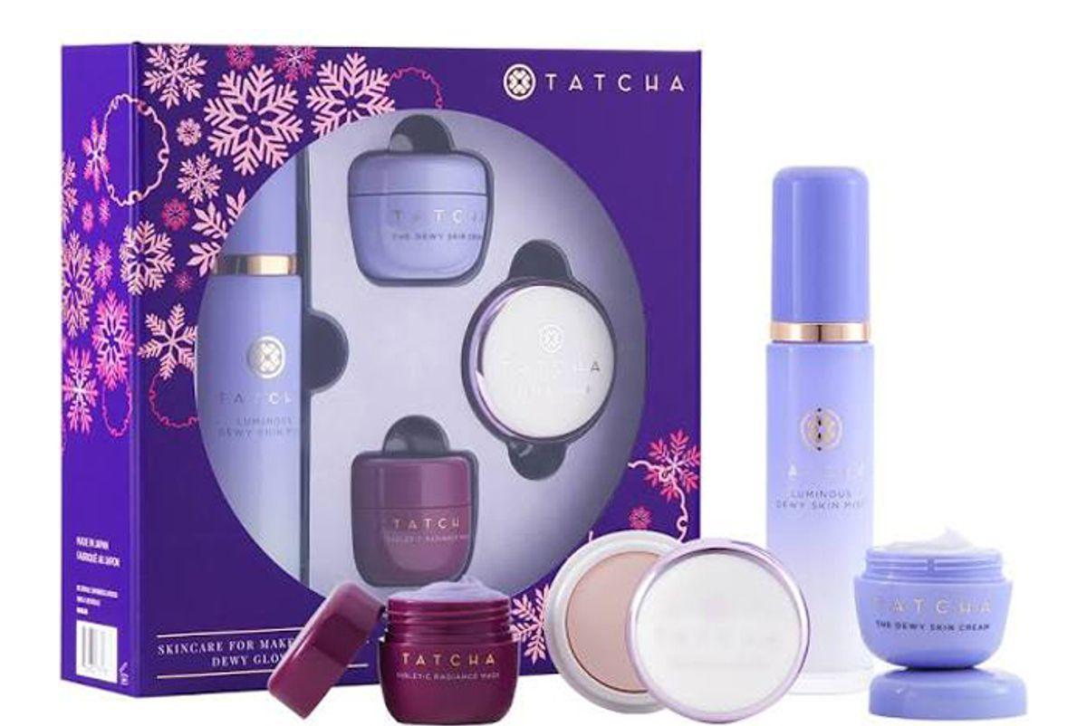 tatcha skincare for makeup lovers dewy glow set