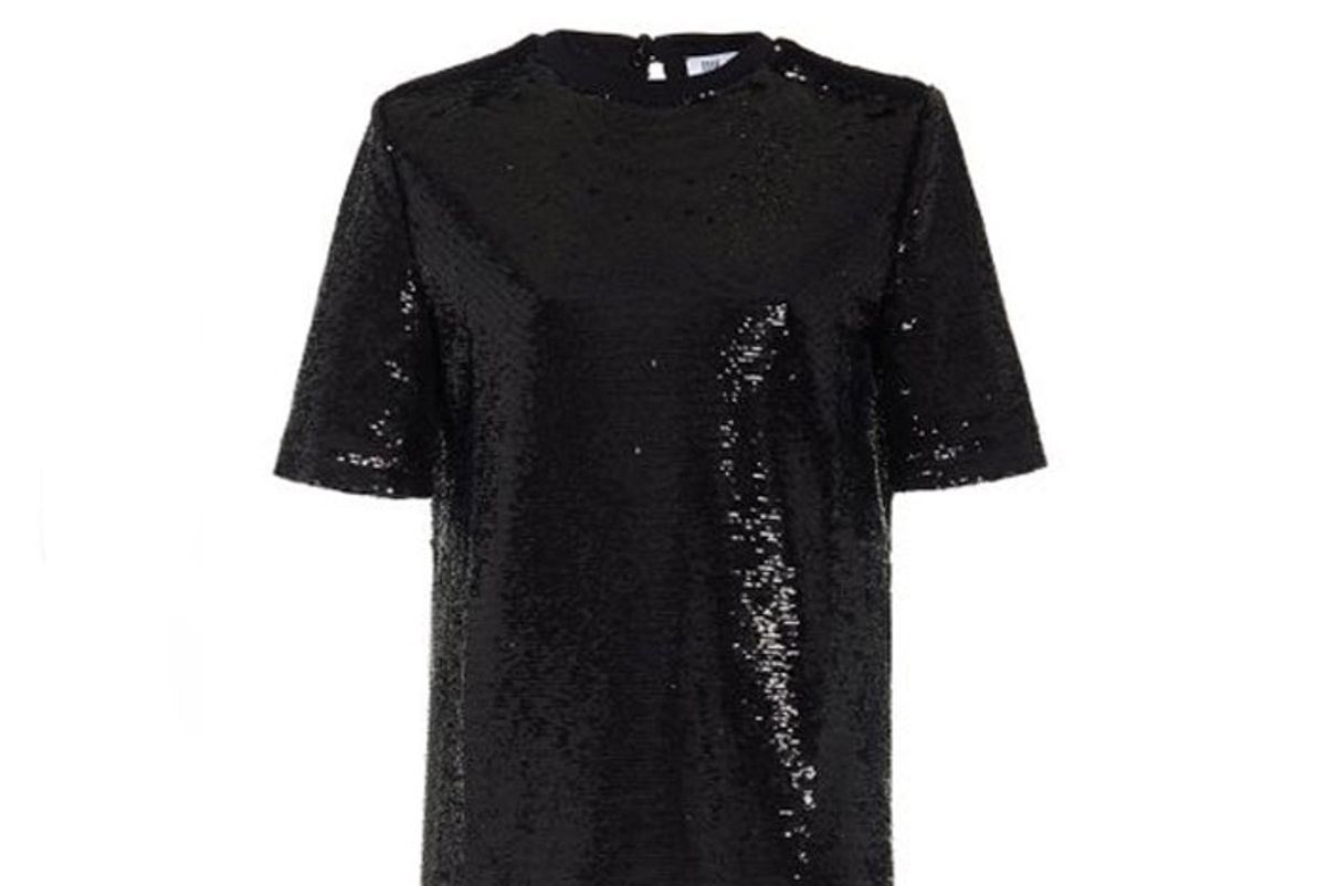 the attico padded shoulder sequined t shirt