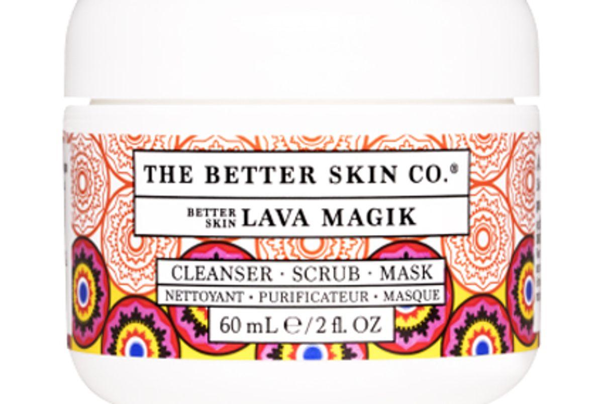 the better skin co better skin lava magik cleanser scrub mask