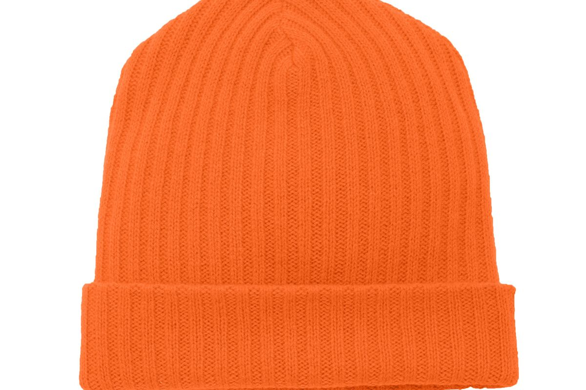 the elder statesman summer rib knit cashmere hat