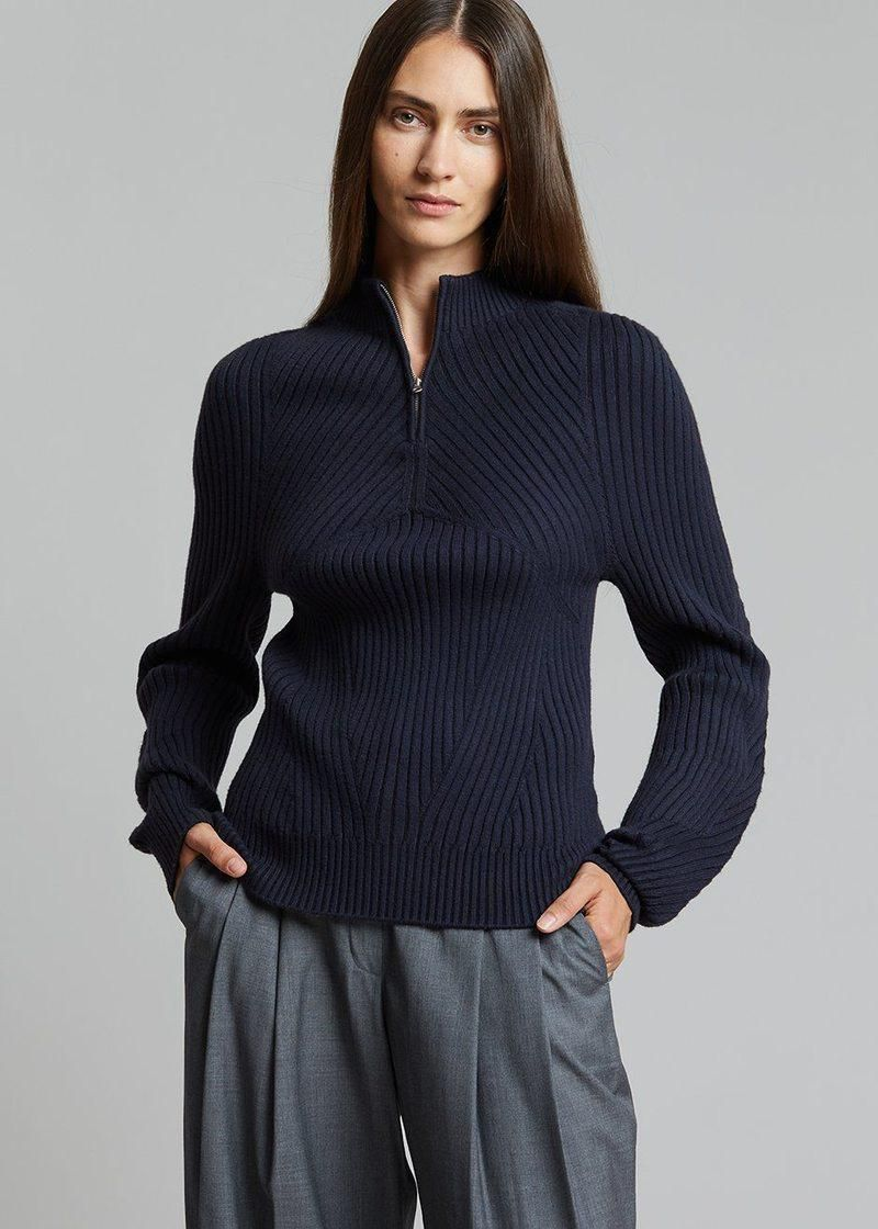 The Frankie Shop low classic wholegarment zip up top