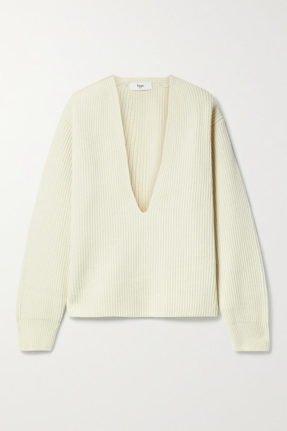 the frankie shop ribbed wool sweater