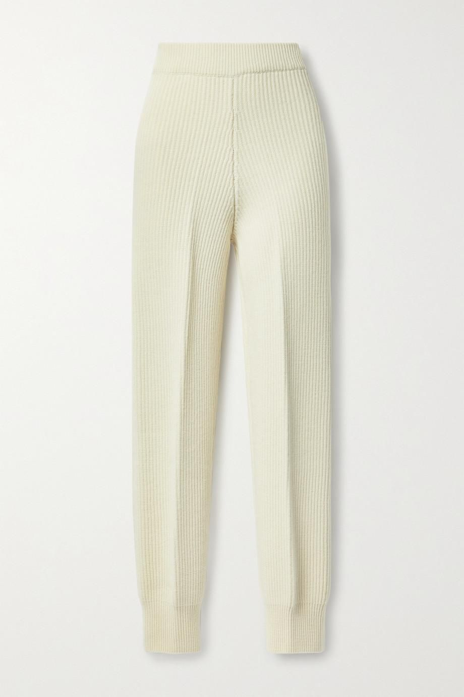 the frankie shop ribbed wool track pants