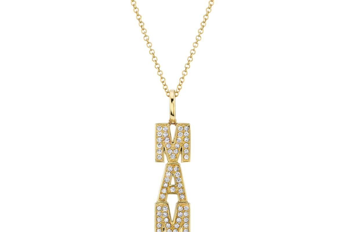 the last line diamond custom letter pendant
