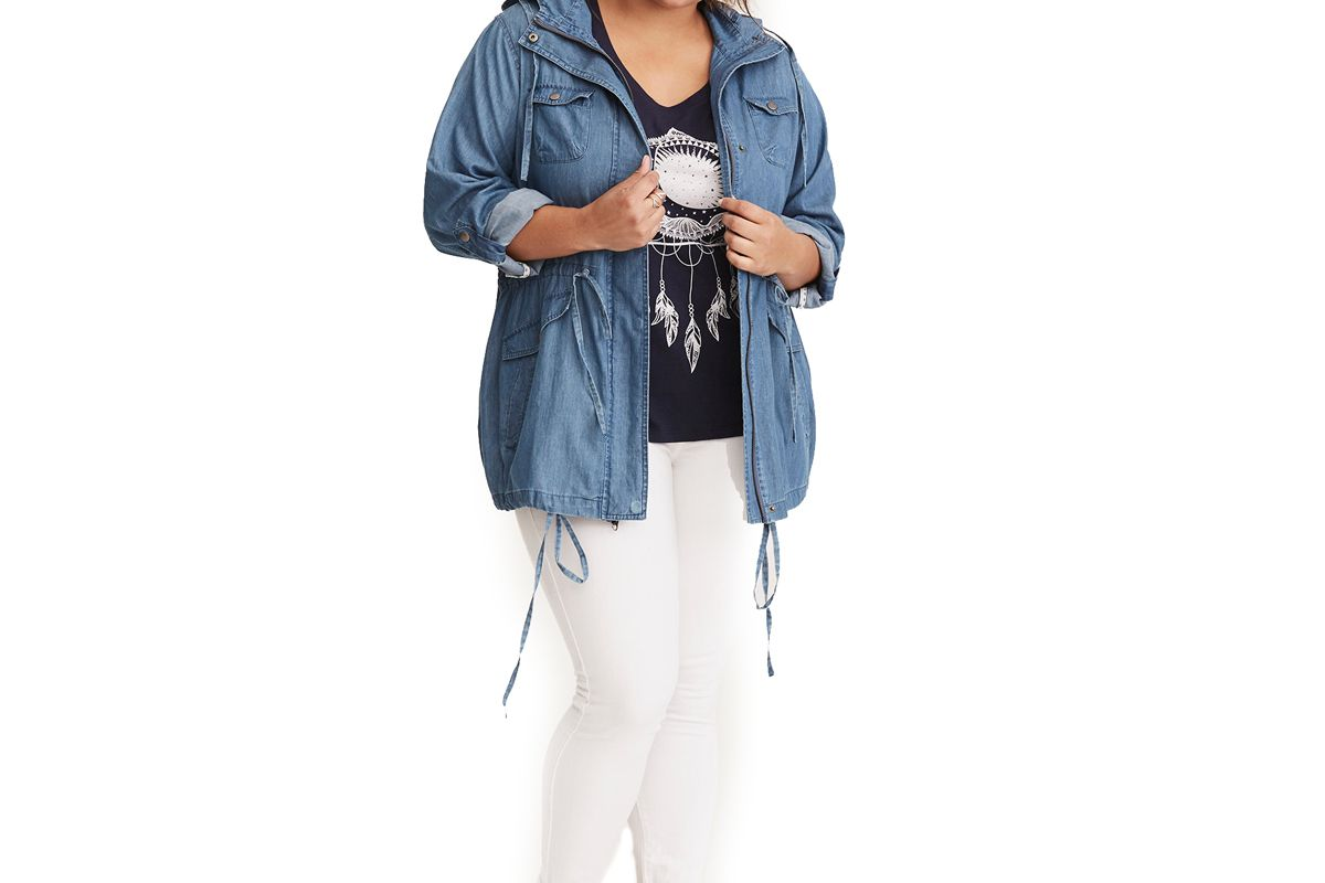 Chambray Anorak Jacket