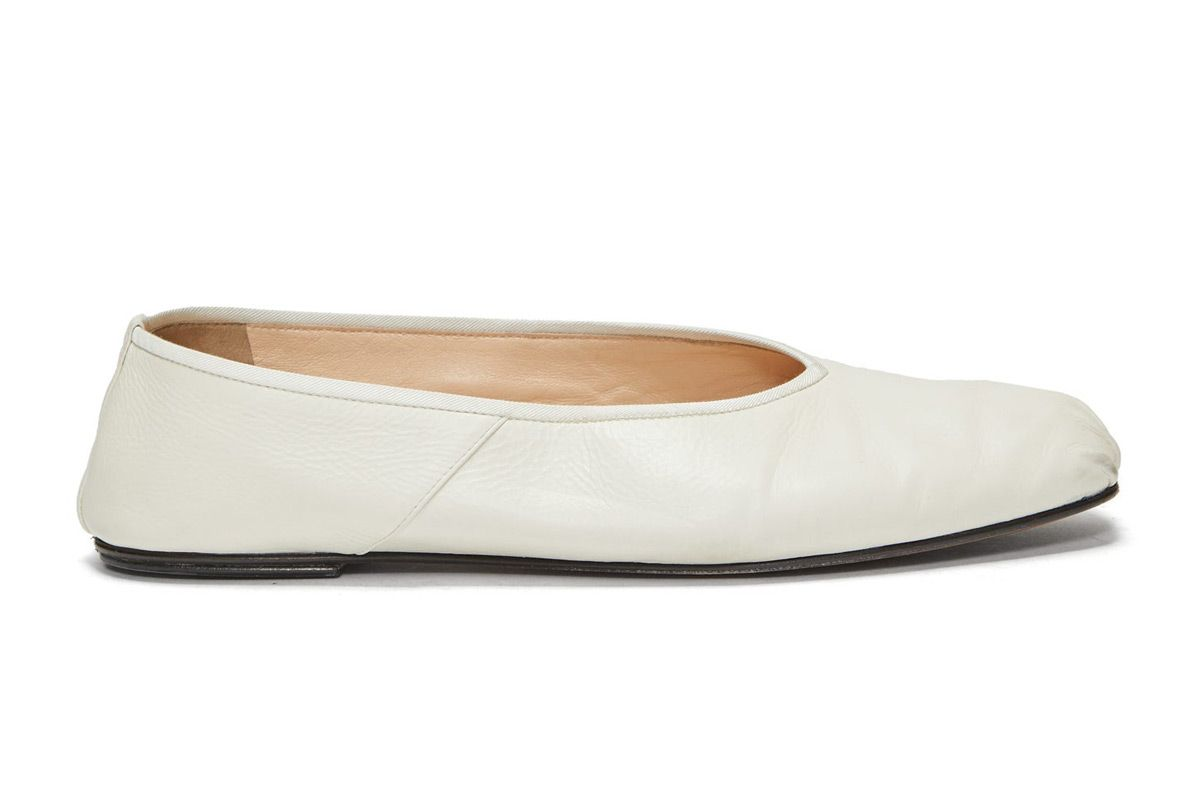 the row ballet square toe leather flats