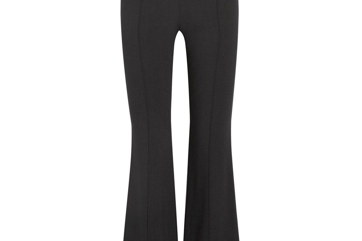 Beca Stretch-Crepe Flared Pants