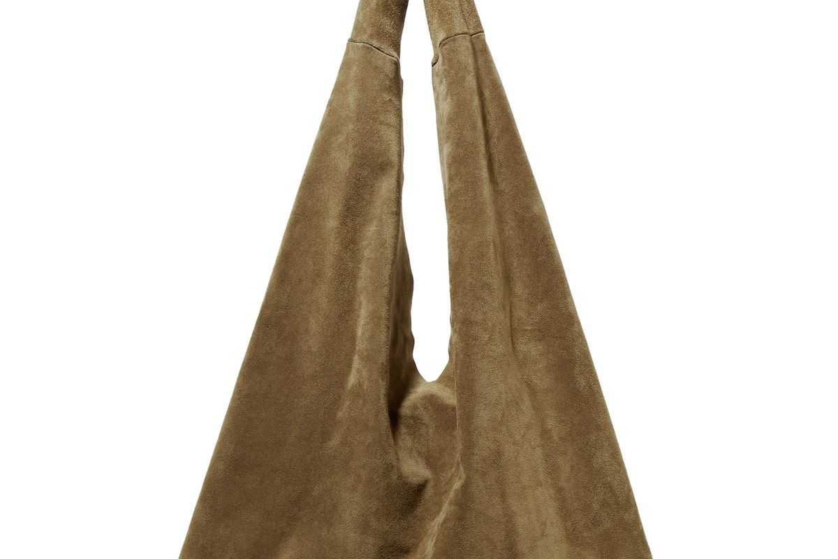 Bindle Suede Shoulder Bag