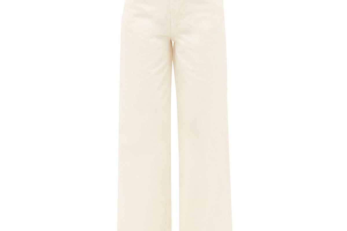 the row issa high rise cotton wide leg jeans