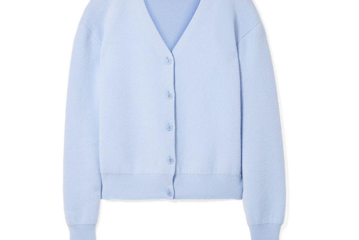 the row nesta merino wool and cashmere blend cardigan