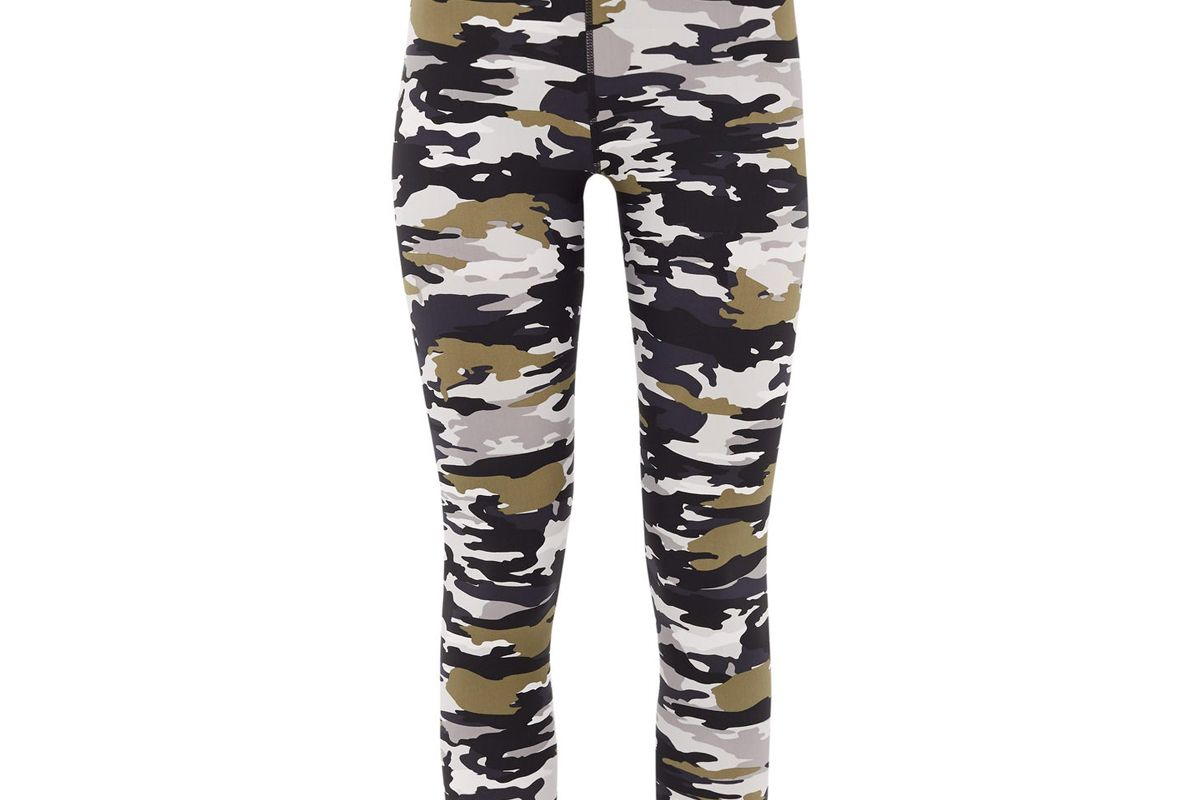 the upside pearl camouflage print technical leggings