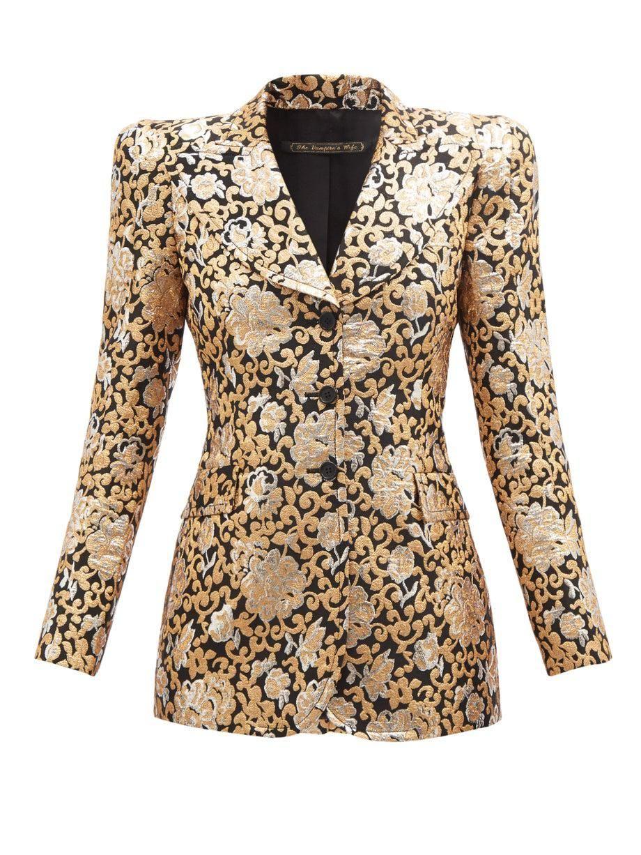 the vampires wife no 2 single breasted brocade jacket
