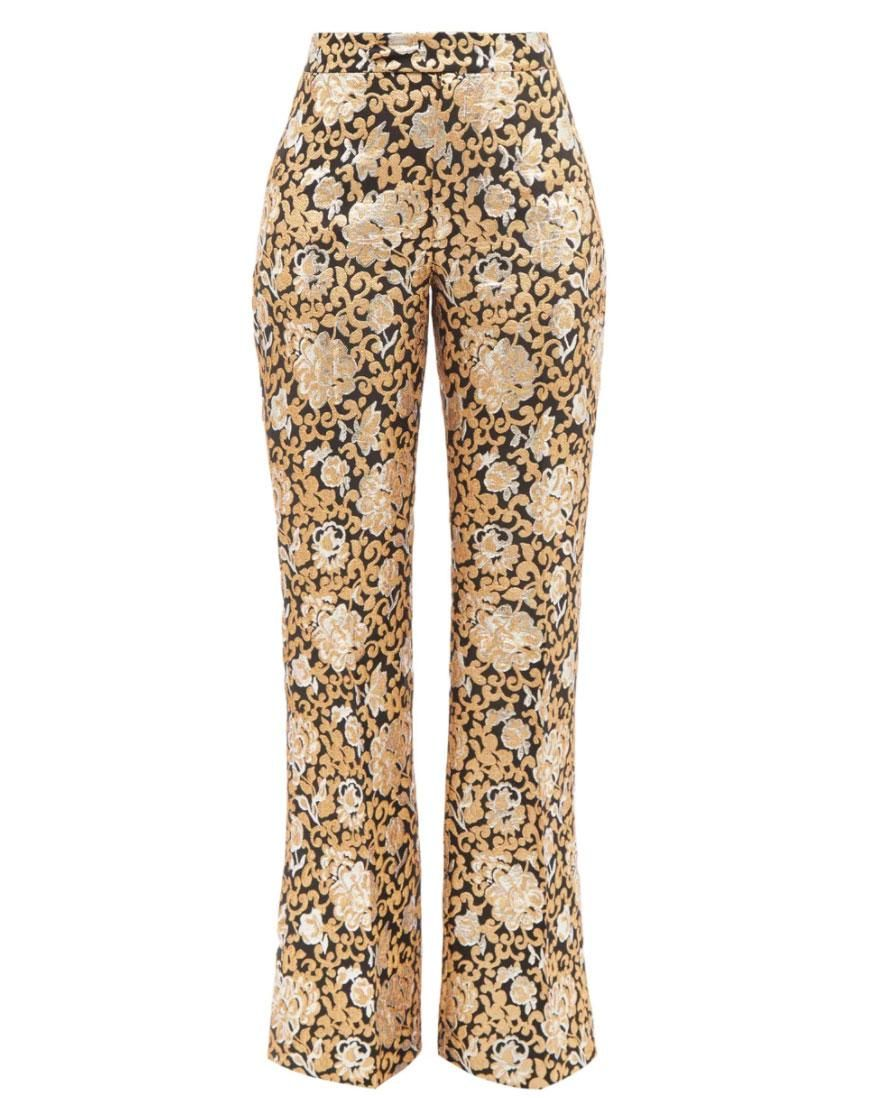 the vampires wife the bell ringer brocade wide leg trousers