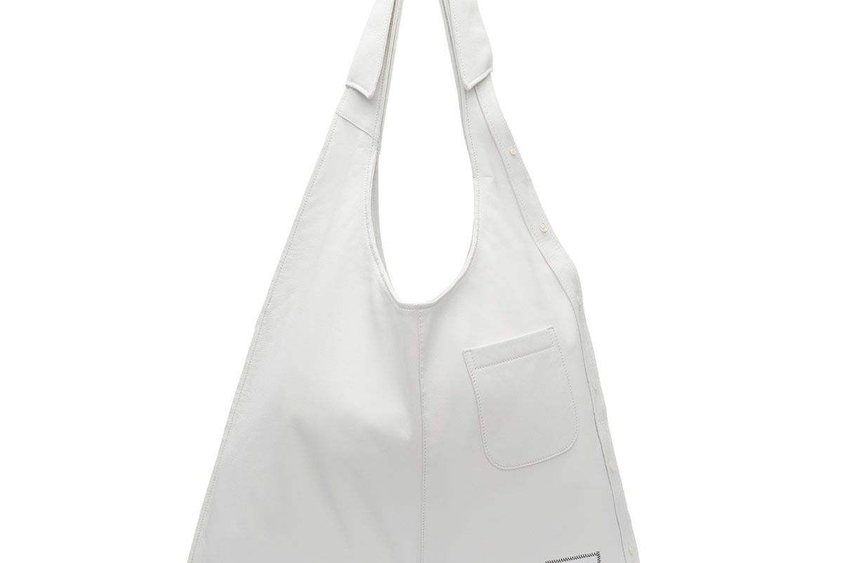 White Trompe L'Oeil Classic Shirt Bag