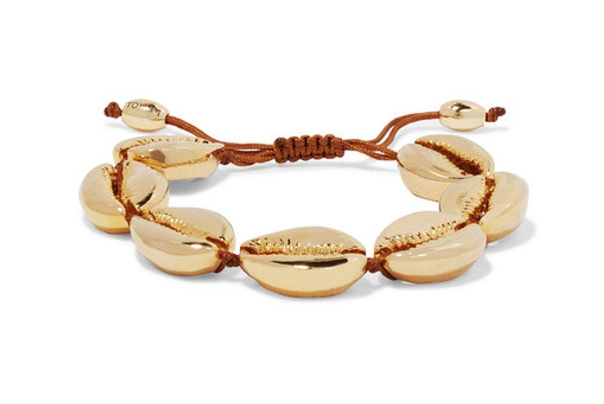 tohum large puka gold plated bracelet