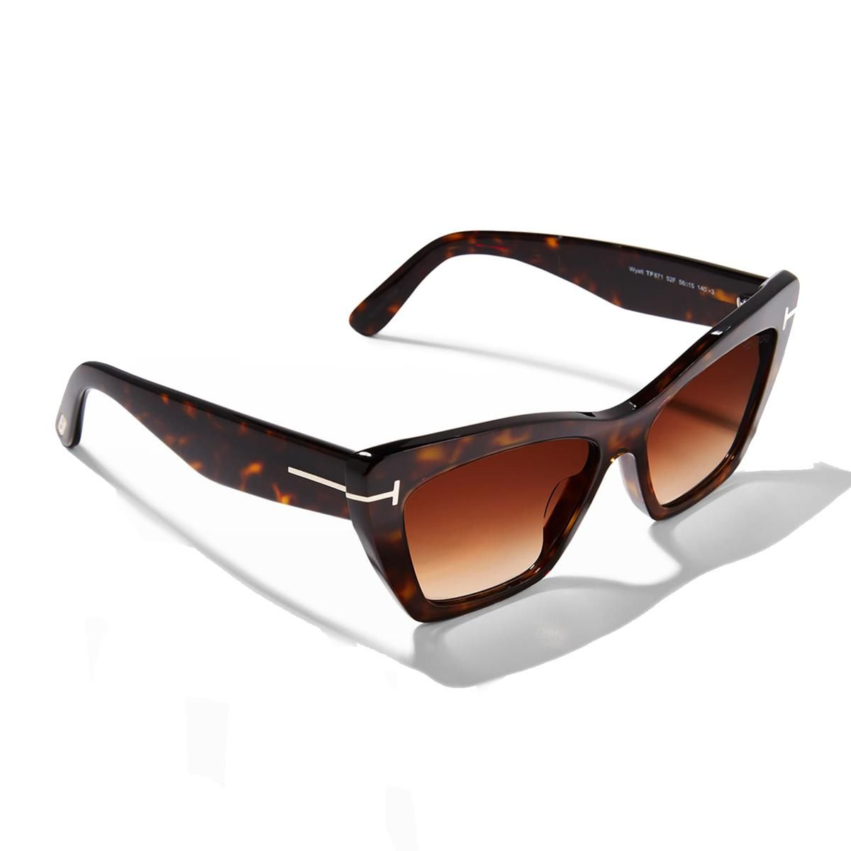 tom ford wyatt plastic cat eye sunglasses