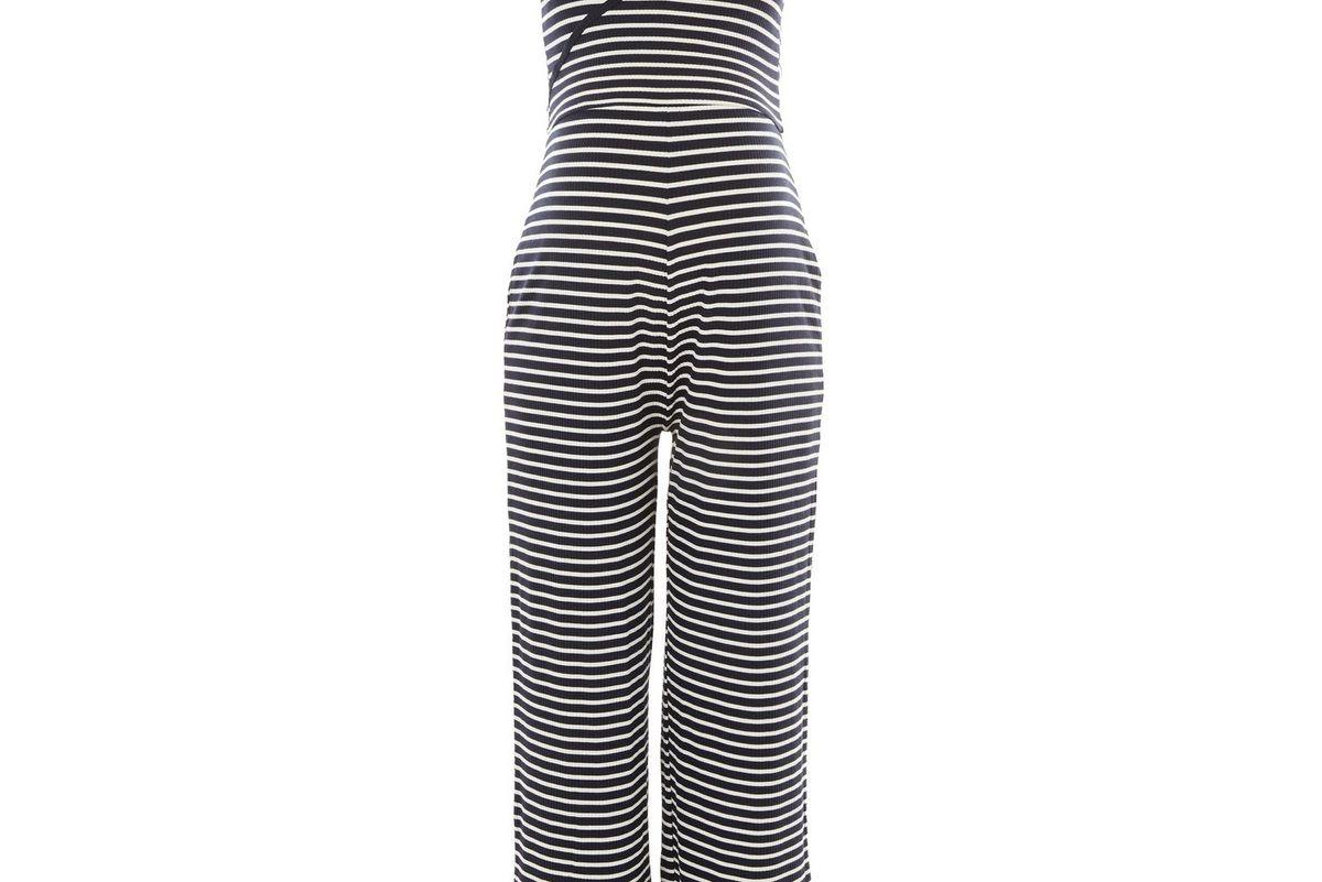 Maternity Stripe Wrap Jumpsuit