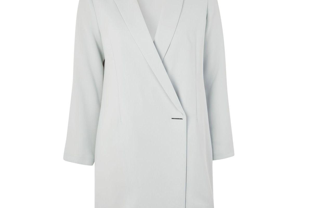 Petite Asymmetrical Blazer Dress