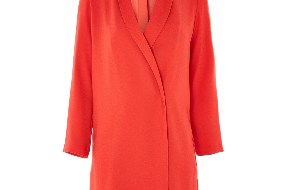Bow Back Blazer Dress in Coral