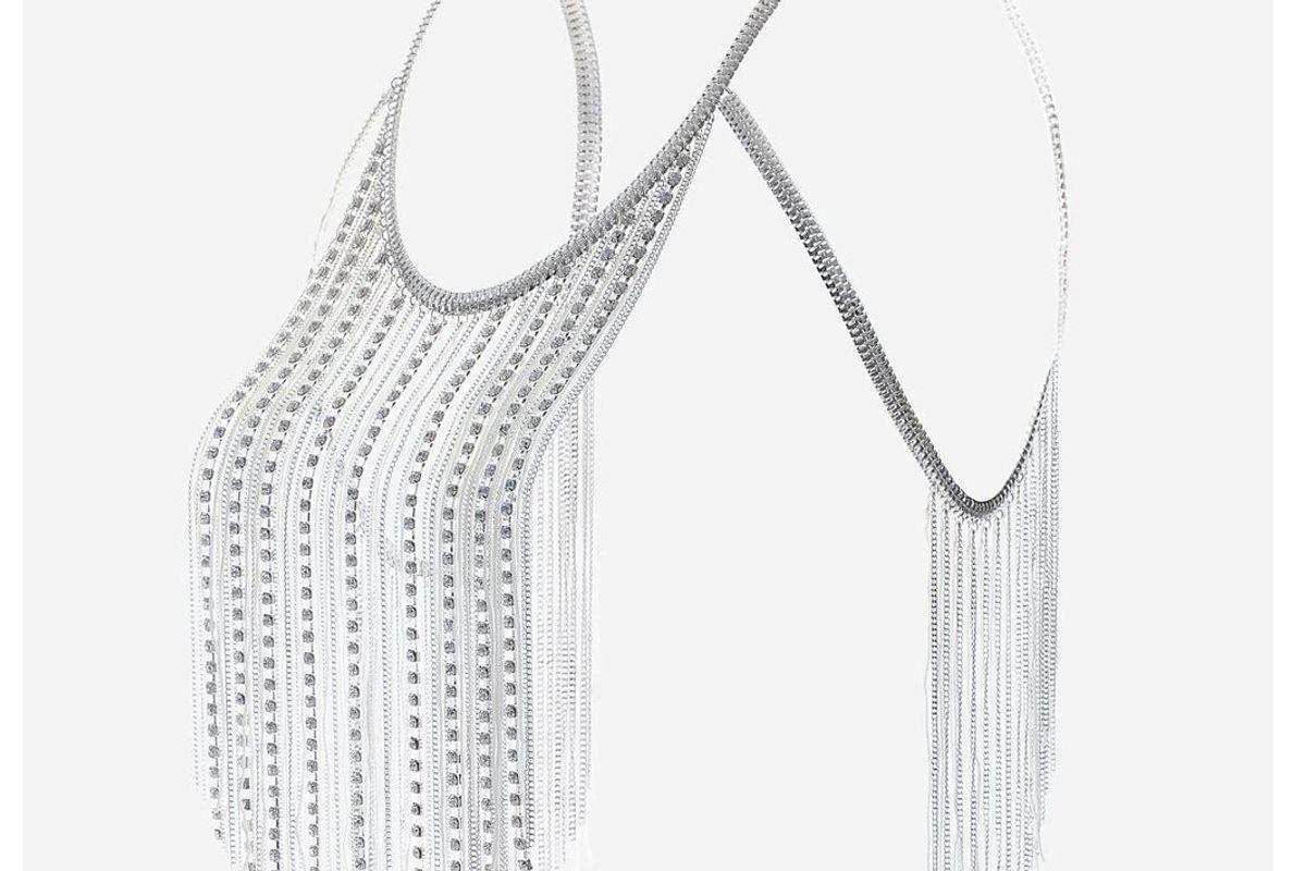 Rhinestones & Tassel Body Chain