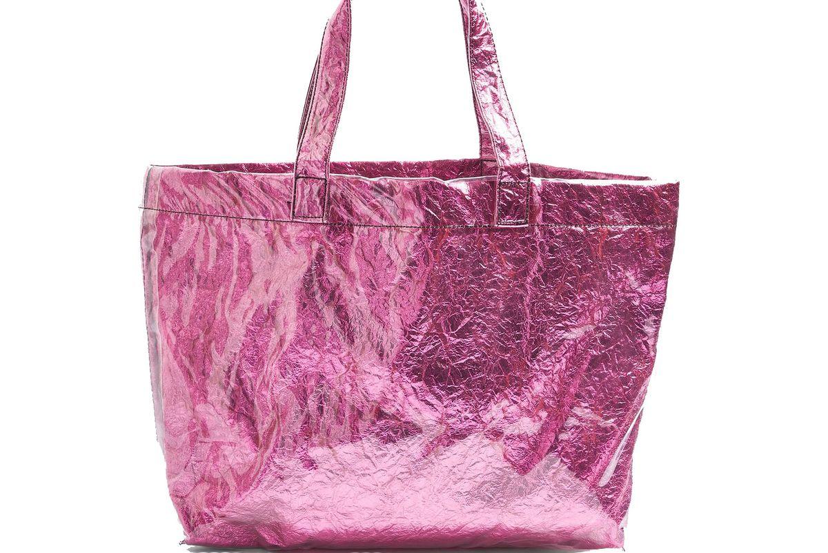 Sally Metallic Shopper Bag
