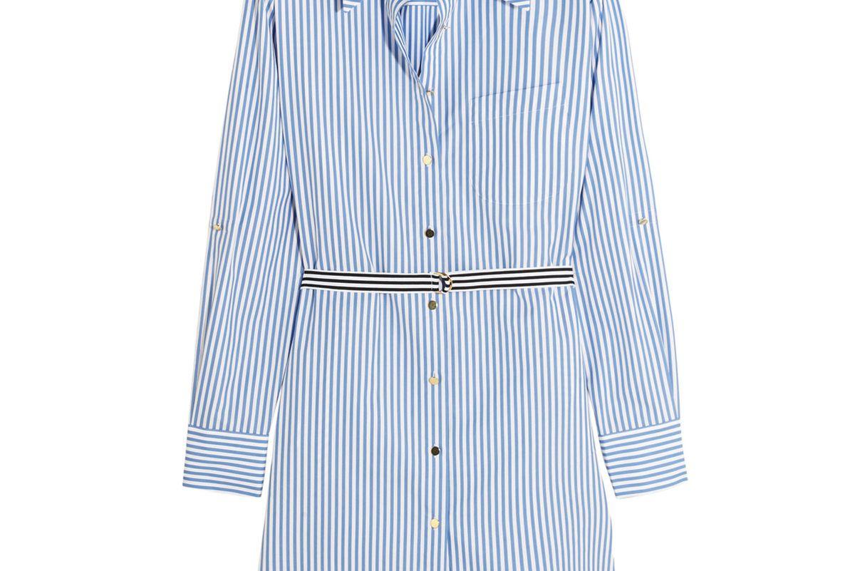 Dorney Striped Cotton-Poplin Shirt Dress