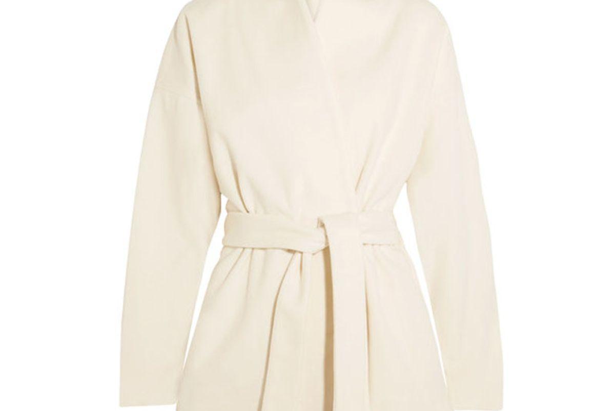 Zurs Belted Wool-Blend Jacket