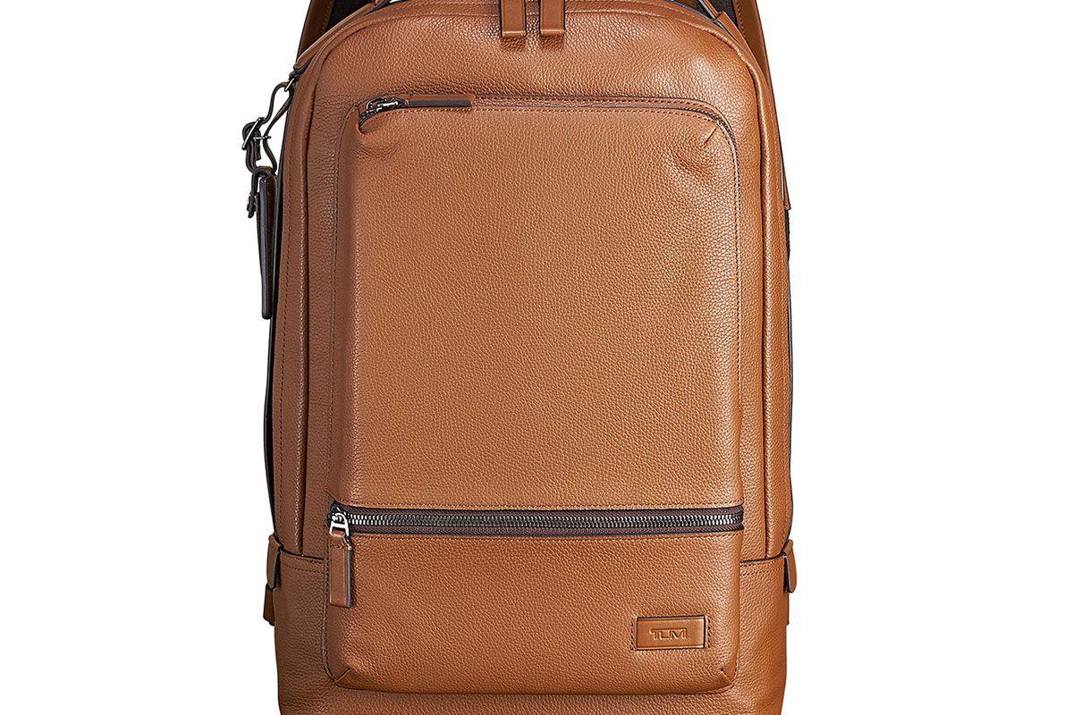 tumi bates leather backpack