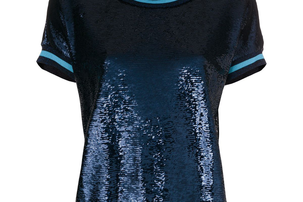 Crew Neck Sequin T-Shirt