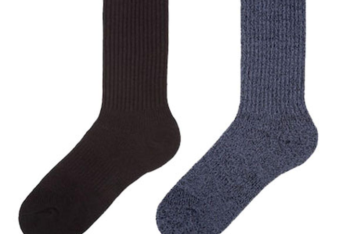 uniqlo women heattech ribbed pile socks 2 pairs