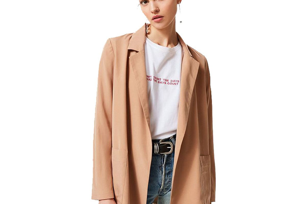 urban outfitters drapey belted blazer