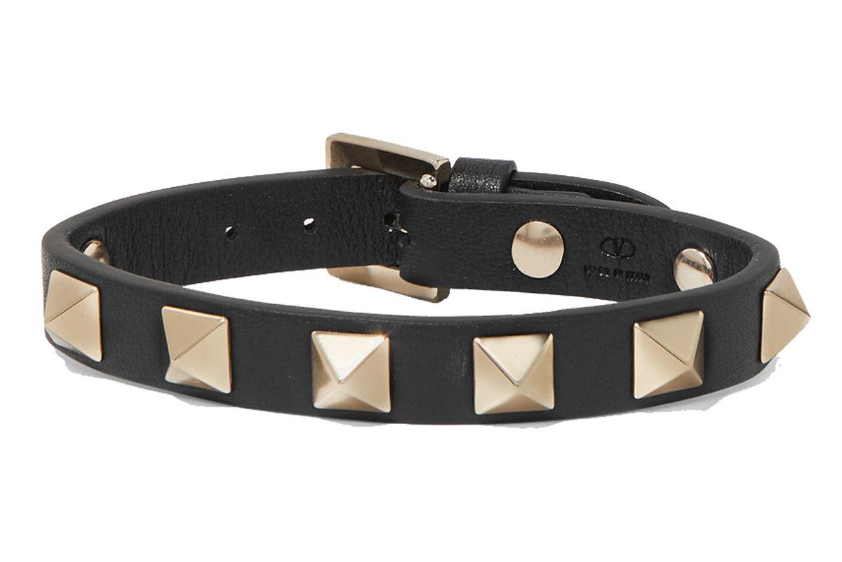 valentino garavani the rockstud leather bracelet