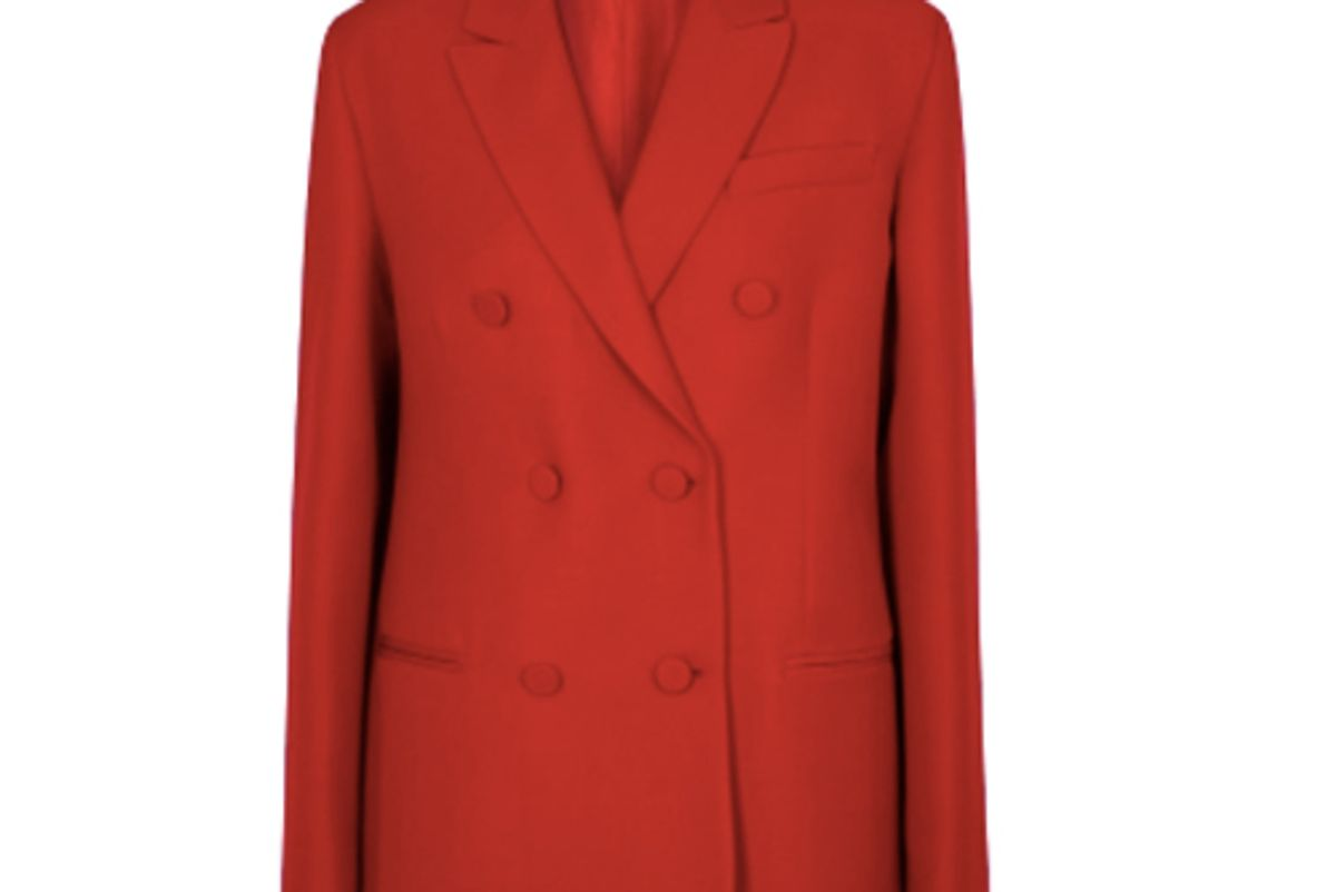 valentino red double breasted cady blazer