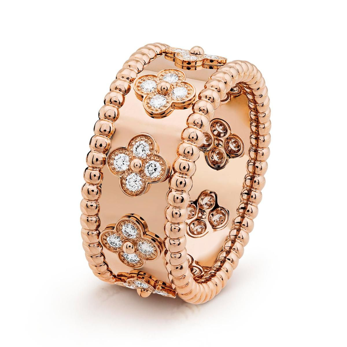 van cleef and arpels perlee clovers ring small model