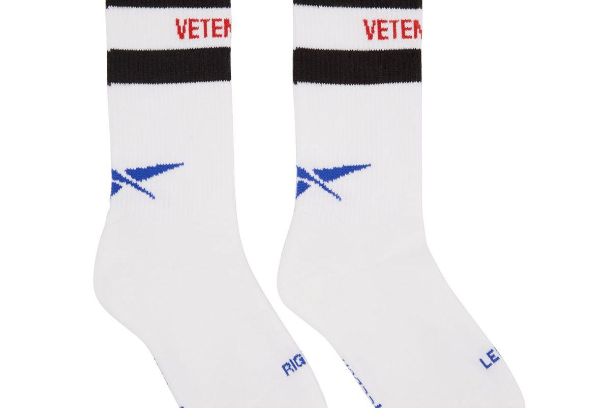 White Reebok Edition Classic Socks